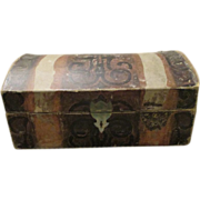 Antique Litho Covered Doll Trunk
