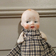 Darling Antique All Bisque Nippon Baby Doll
