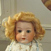 Pretty Blond Antique Heubach Bisque Head Doll on Kid Body