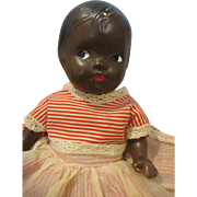 SOLD Pretty Vintage Black Composition Doll - Nice Small Size