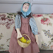 Beautifully Crafted Cloth Doll with basket of chicks