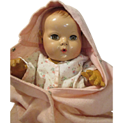 Vintage Bunting and Rosebud Robe for your Dy Dee Baby Doll