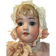 Beautiful Antique Bisque Head Doll with a Handwerck Stamped Body - So Pretty