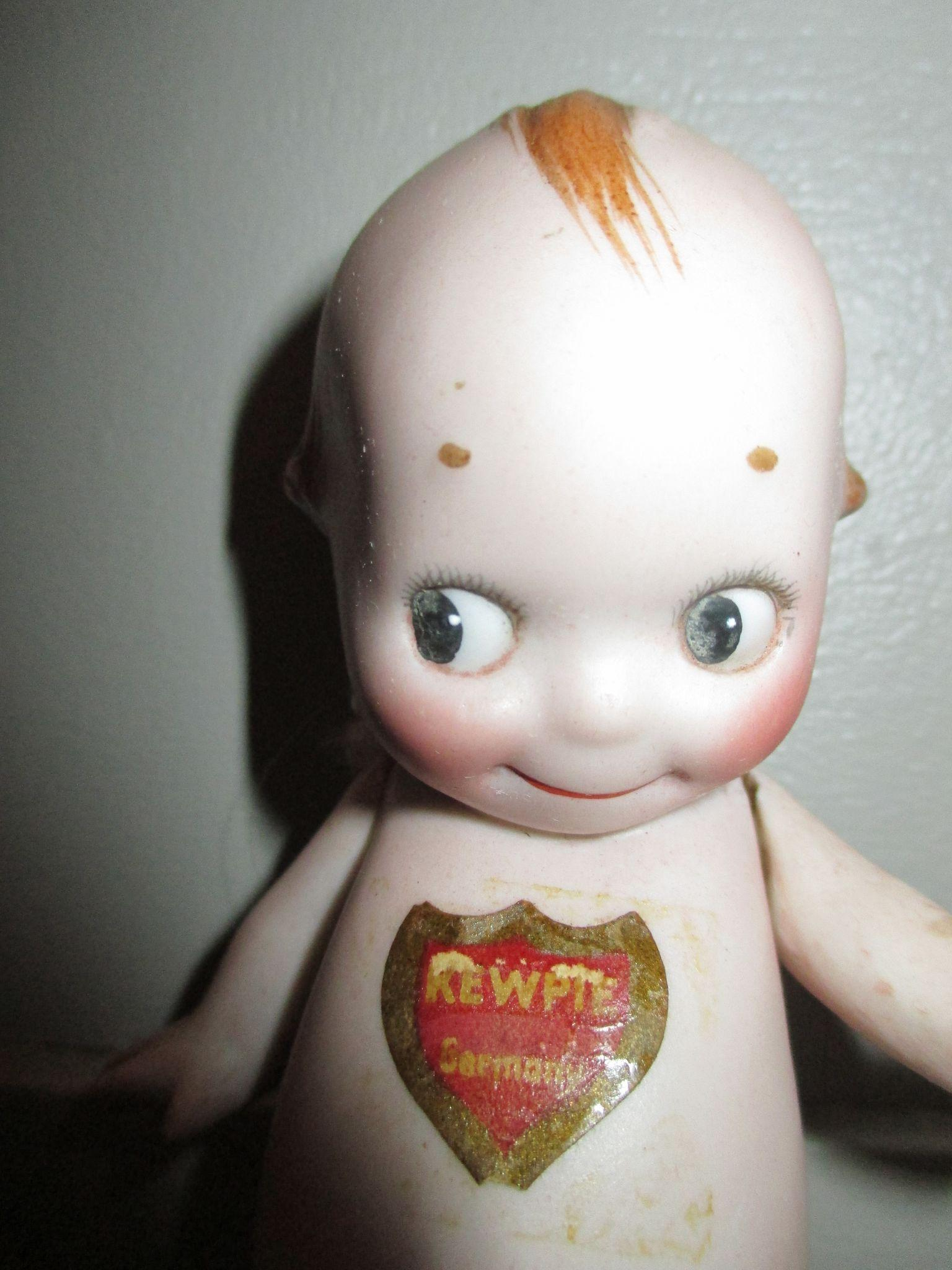 Antique All Bisque Rose O Neill Kewpie Doll With His