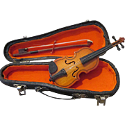 Tiny Violin for Your Antique Bisque Head Doll