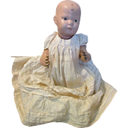 """Antique 14"""" Schoenhut Wood Jointed Baby Doll"""