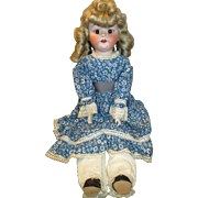 "Adorable 24"" Fulper Bisque Head Doll with Unusual Look"