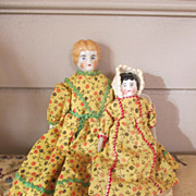 148 - Two Tiny China Head Dolls for your Doll House