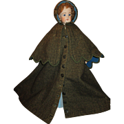 Antique Wool Coat with Matching Cape for Your French Fashion Doll