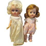 "Two Vintage 8"" Dolls in Great Outfits"