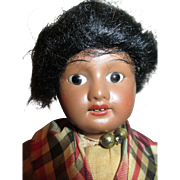 Antique Black French Bisque Head Doll