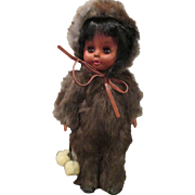 Vintage Doll in Fur Outfit