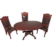 Ornate Doll House Table and Chairs