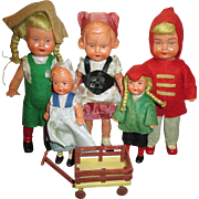 Group of 6 Vintage German Dolls