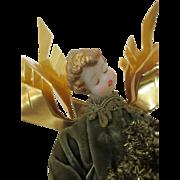 Vintage Wax Head Angel in Original Costume