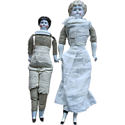 Pair of Antique China Head Dolls