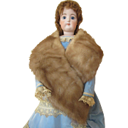 Real Fur Stole for Your French Fashion Doll