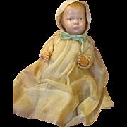 "Antique Schoenhut 16"" Baby with his original 5 piece outfit"