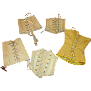 5 Antique Doll Corsets for Your French Fashions, Bru, or Jumeau Dolls