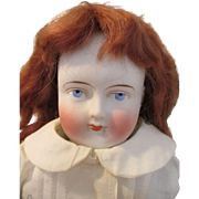 """Antique Solid Dome 20"""" Bisque Shoulder Head Doll with Wonderful Cloth Body"""
