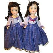 Pair of Vintage Toni P-90 dolls