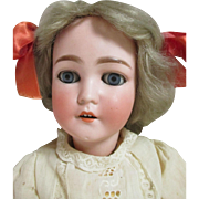 Antique Queen Louise Doll with Pretty Face and Nice Clothing