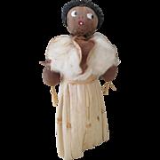 Vintage Corn Husk Nut Head Doll
