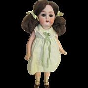 "Antique 9"" Heubach Kopplesdorf Bisque Head Doll"