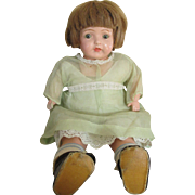 Adorable Vintage Composition Baby Doll in Original Dress