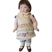 """Antique 3"""" All Bisque Doll - Wonderful look"""