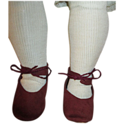 Suede Shoes and Socks for your Antique Doll