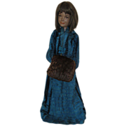 Rare Vintage Black Child Mannequin in Antique Victorian Gown