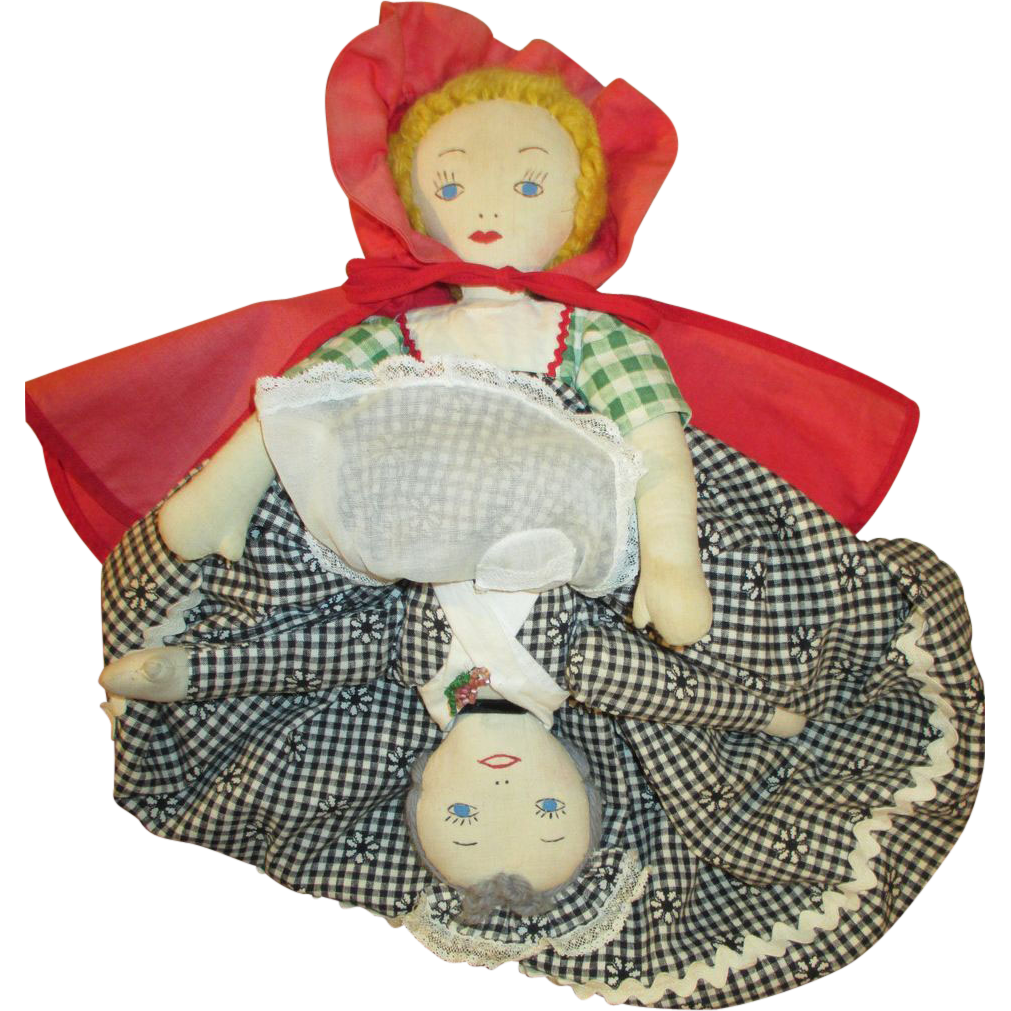 Vintage Dolls Clothes Vintage Cloth Topsy Turvy Doll