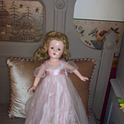 "Stunning 20"" Effanbee Anne Shirley Little Lady Doll in Orig. Outfit & Bracelet"