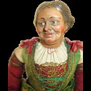 Neapolitan Creche Figure Woman - Expressive Face