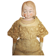 Antique Bisque Head Googly - Side Glancing Eyed Doll