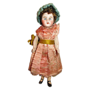 "Sweet Antique Doll House Doll - Tiny 3.75"" Doll - Darling Face"