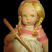 "Antique 9""Lenci Doll In Original Box"