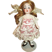 "Sweet 4.5"" Antique All Bisque Doll - Perfect for a Doll House"