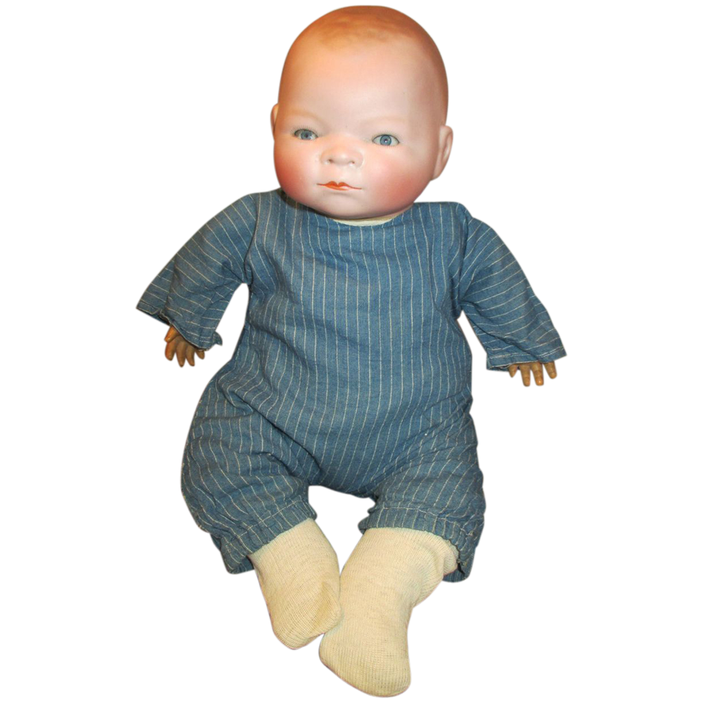 Heartbreaking Antique Bisque Baby Doll Bye Lo Baby From