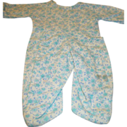 Blue Flannel Footed Pajamas for your Dye-Dee Baby, Tiny Tears, or Vintage Baby Doll