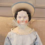 "Large & Lovely 24"" China Head Doll in Amazing Dress"