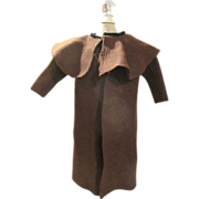 Antique Wool Doll Coat With Capelet For Your French Fashion Doll