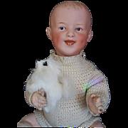"Devilish 13"" Laughing Gebruder Heubach Baby Doll"