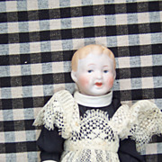 Unusually Dressed Nippon Doll on Compo Body
