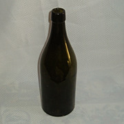 Dark green lip applied turn mould bottle