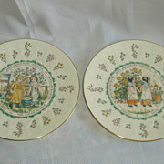 Kate Greenaway Aquarius Royal Doulton plate and Gemini Plate