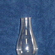 Circa 1859  Serrated Loop Clear Finger Lamp