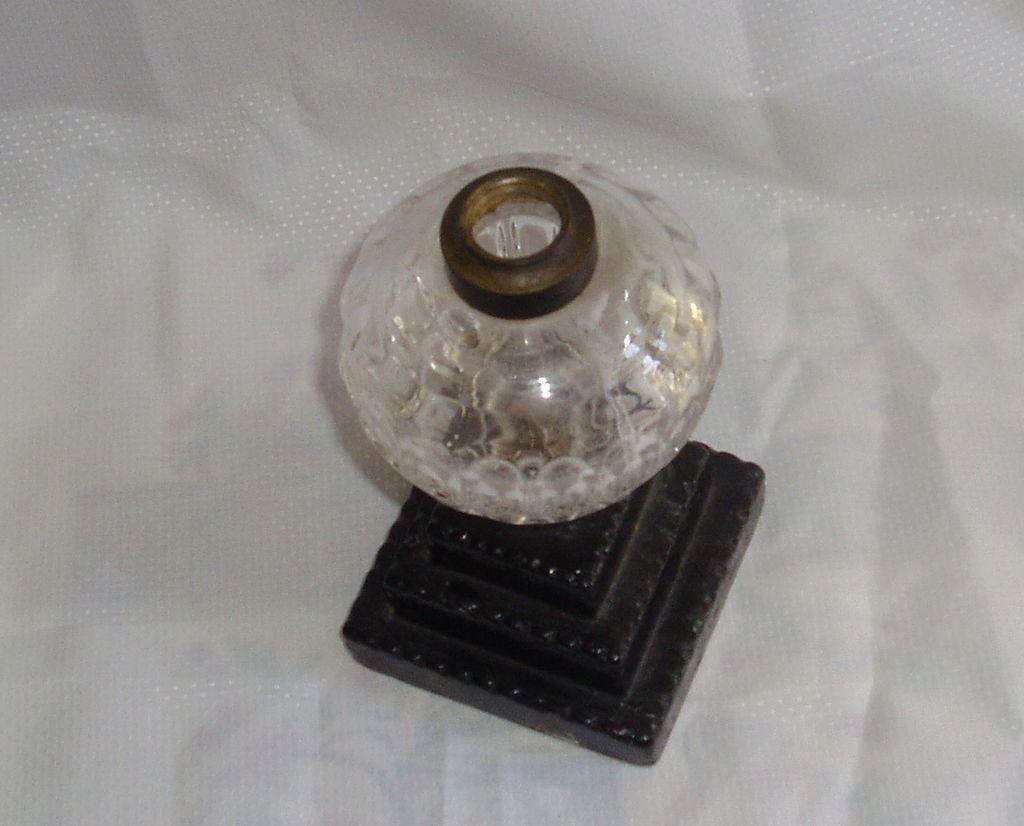 Antique make-do kerosene/oil lamp
