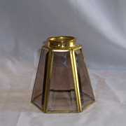 Arts & Crafts Style Brass and Glass Lampshade